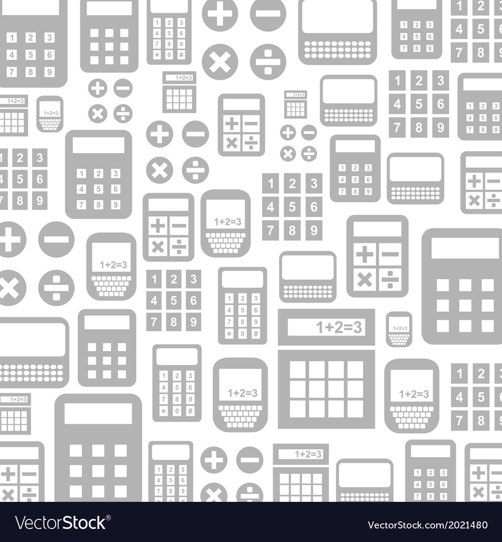 Calculator a background vector