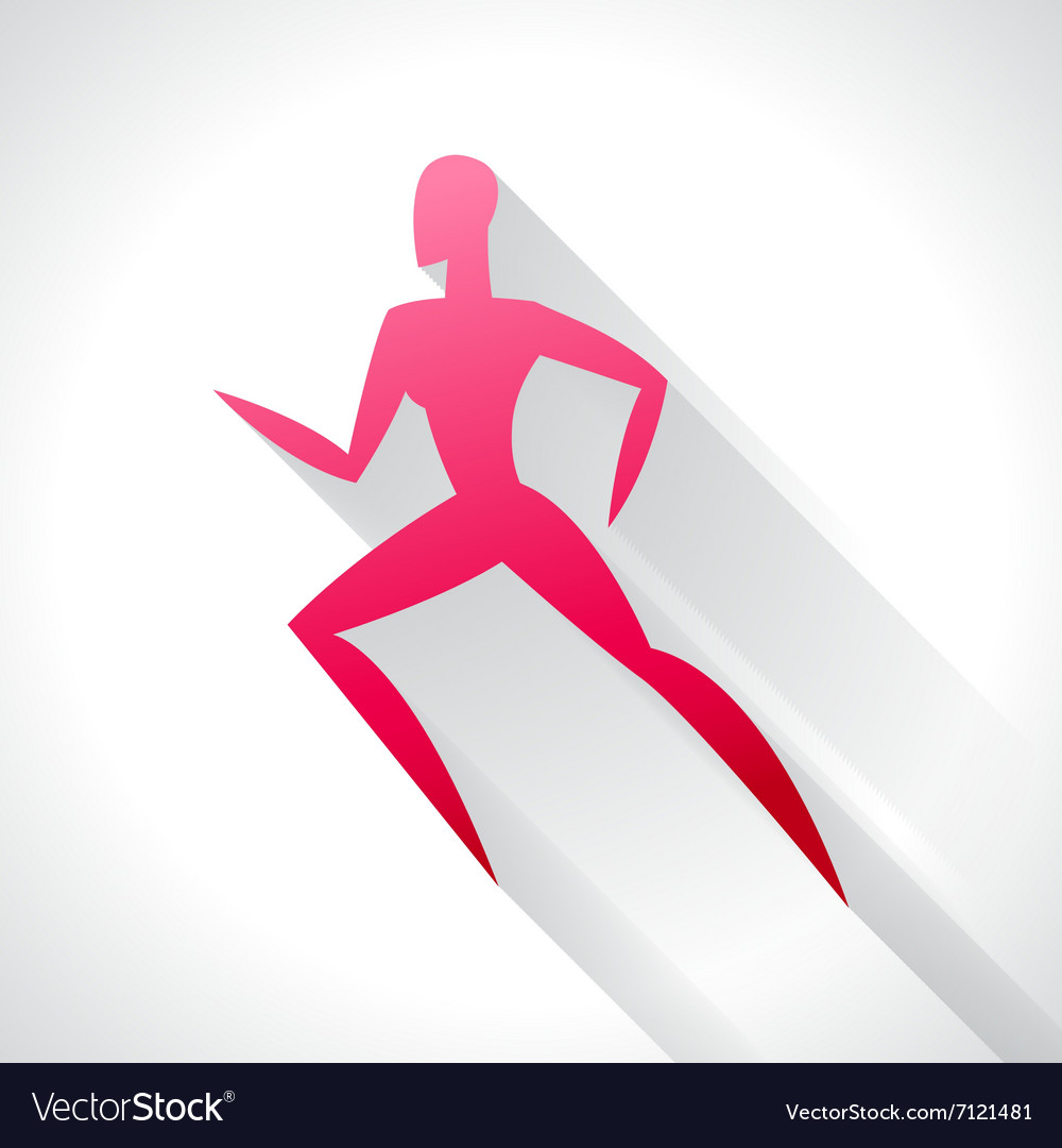Athletics emblem of abstract stylized running vector