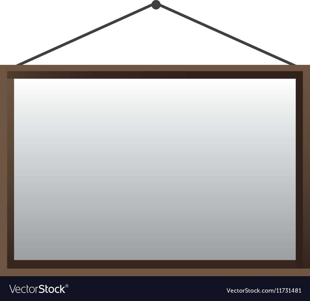 Blank hanging sign icon image vector