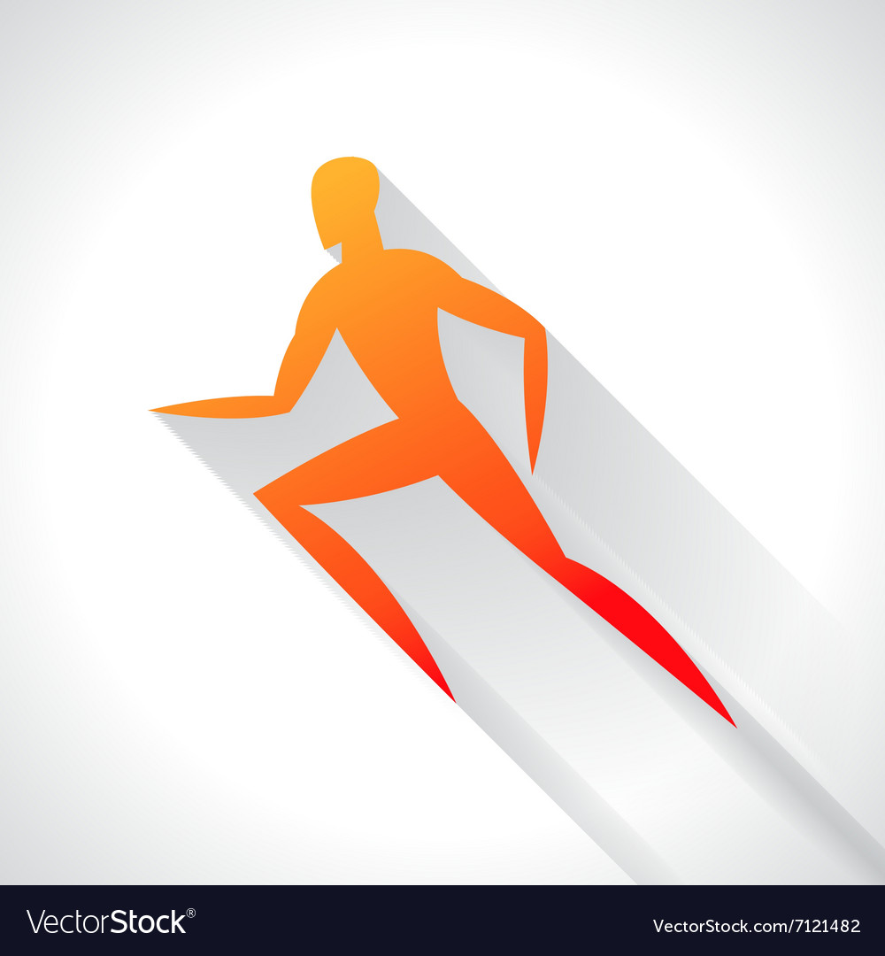 Athletics emblem of abstract stylized running man vector