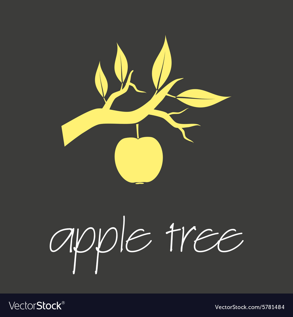 Apple tree symbol simple business banner eps10 vector