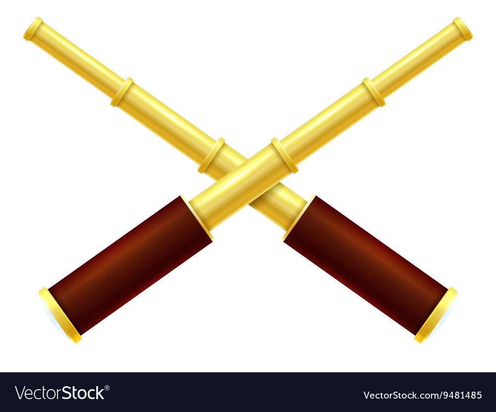Spyglass isolated on a white background vector