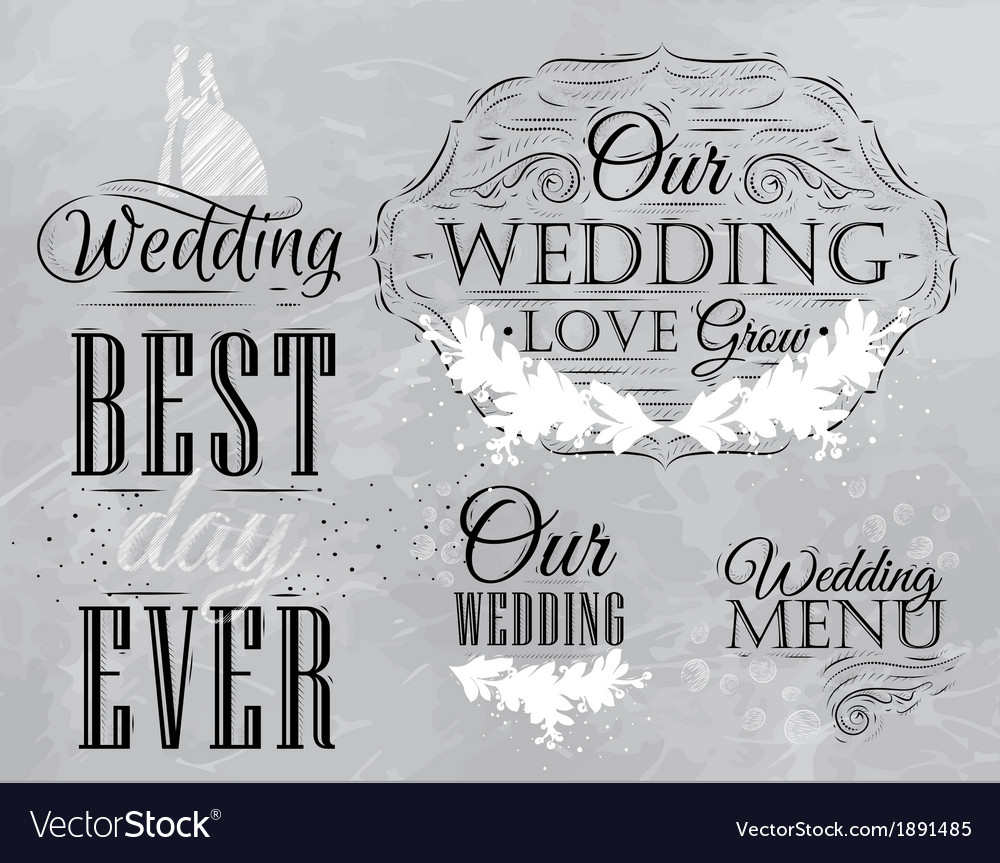 Wedding set coal vector