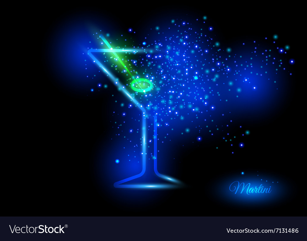 Martini with olive design concept vector