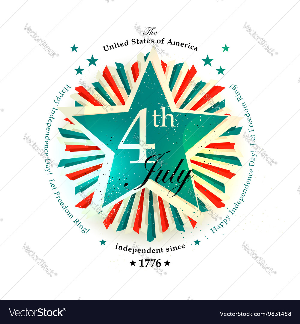 4 july card vector
