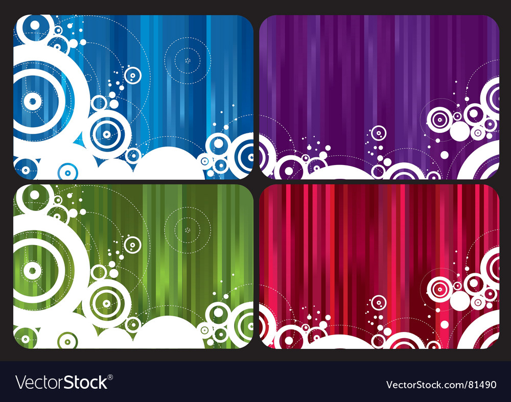 Rainbow cards vector