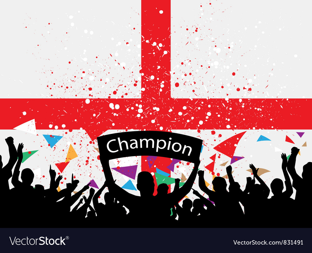 Crowd cheer england vector