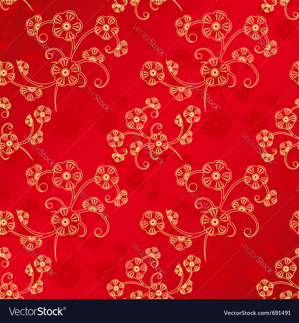 Oriental chinese new year vector