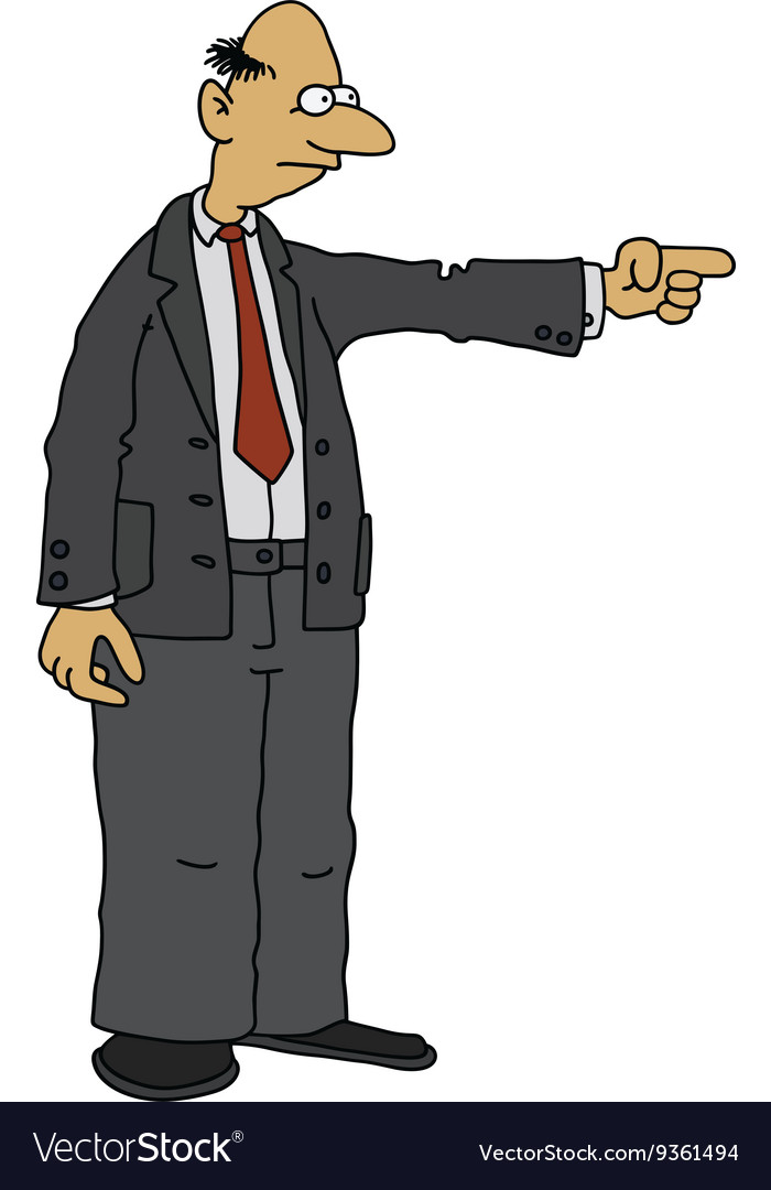 Man in a dark suit vector
