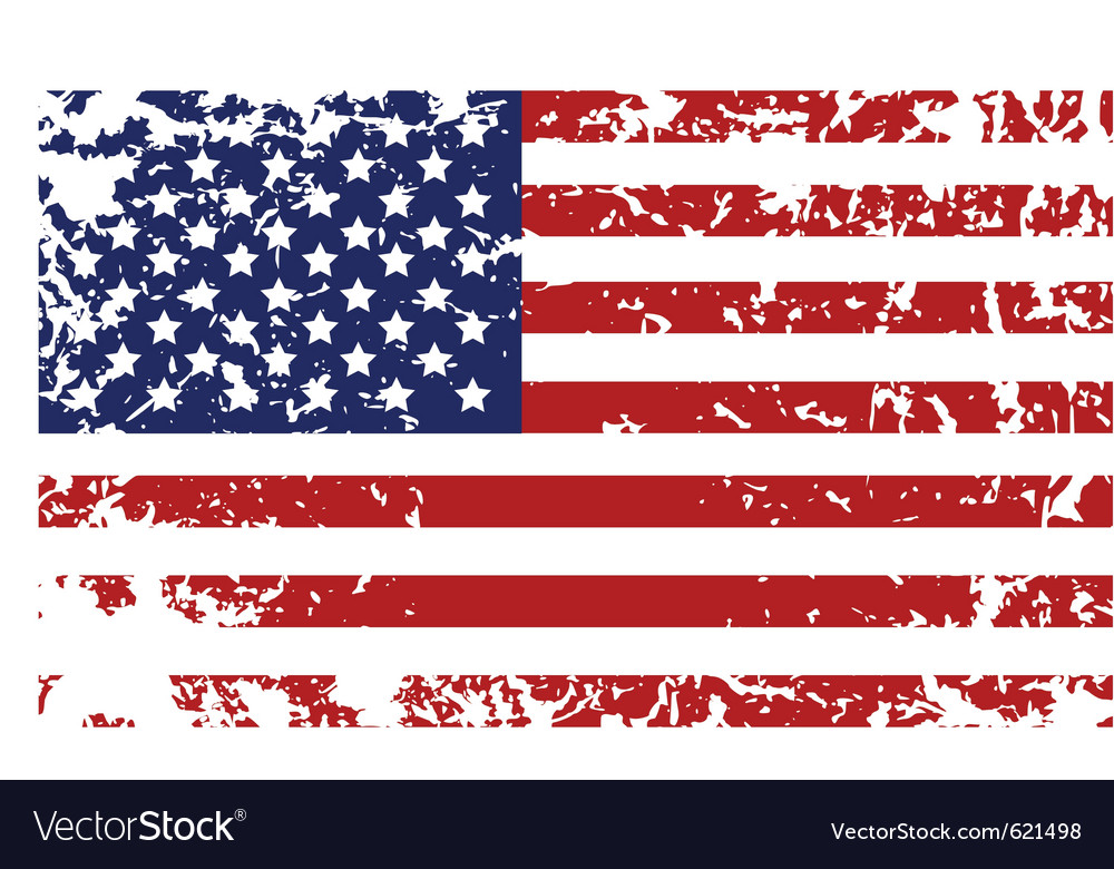Grunge flag of united states vector