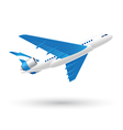 Blue and White Airplane Icon vector image vector image