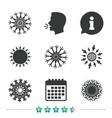 snowflakes artistic icons air conditioning vector image