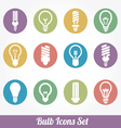 Light bulbs Bulb icon set vector image