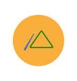 stylish icon in color circle billiard cue and vector image