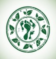 green stamp vector image vector image