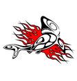 shark tattoo vector image