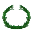 Simple Christmas wreath isolated on white vector image