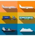 Transportation vehicles vector image