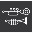 Trumpet icons vector