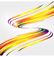 Abstract background with bent lines vector image