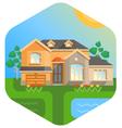 Big house with doorway vector image