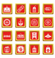 black friday icons set red vector image