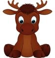 Funny moose vector image