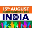 independence day india 15th of august vector image