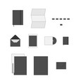 office supply flat icons set vector image