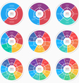 Set of flat style pie chart circle infographic vector image