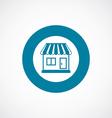 shop icon bold blue circle border vector image