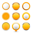 Yellow Round Buttons vector image