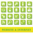 internet and website green plate vector image