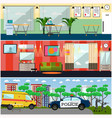 set of first aid interior posters in flat vector image