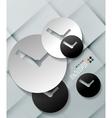 time paper modern clock design vector image vector image