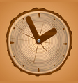 Wooden Clock vector image