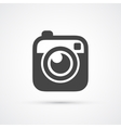 Trendy flat Hipster camera photo icon vector image