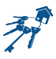 house keys bunch vector image vector image