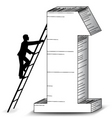 business success ladder vector image vector image