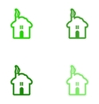 Set of paper stickers on white background house vector image
