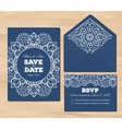 Wedding set with lace elements vector image