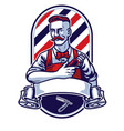 barber man holding clipper vector image