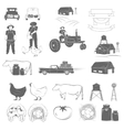 Farming Two-color Icon Set vector image