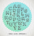 Hand drawn fonts vector image