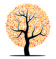 tree with yellow leaves vector image