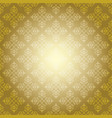gold vintage pattern on yellow background vector image