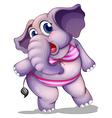 An elephant wearing a bikini vector image