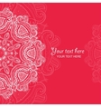 Invitation card with lace ornament 4 vector image