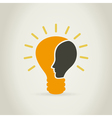 Head in a bulb vector image