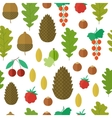 Seamless pattern with nuts and berries vector image